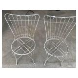 Pair of vintage mid century wire chairs