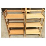 Pair of folding shelves