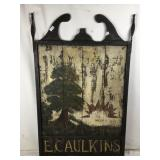 Old Hand Painted Wooden Tavern Sign