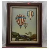 Framed Hot Air Balllon Art