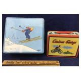 French Confection Tin and Curious George Lunchbox