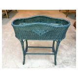 Wicker Plant Stand with Liner