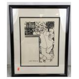 Framed Aubrey Beardsley Illustration