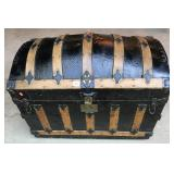 19th Century Custom Made Camelback Trunk