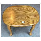 Oak Side Table with Queen Anne Legs