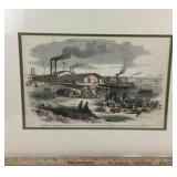 Civil War Lithograph - HQ of Mississippi Fleet