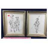Framed Revolutionary War Soldier Art
