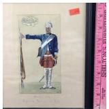 Framed Painting of 18th Century Prussian Soldier