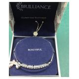 Boxed Swarovski Crystal You Are Beautiful Bracelet