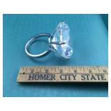 Huge Glass Ring Paper Weight