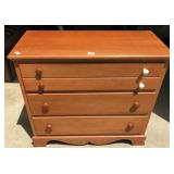 Three drawer maple dresser