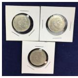 Trio of 1937 and 1938 Nazi Silver Coins