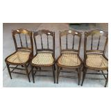 Four cane seat chairs