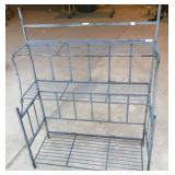 Foldable  three shelf rod iron plant stand