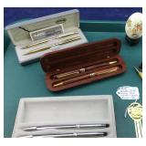 Trio of New Pen and Pencil Sets Plus Other Items