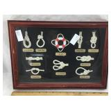 Shadowbox Display of Nautical Knots