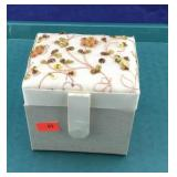 Small Sequined Jewelry Box and Contents