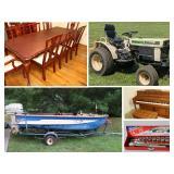 Boat, Garden Tractor, Furniture