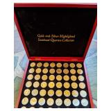 Silver and Gold State Quarters, Guns Coins Tools