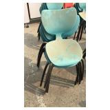 6 Teal Chairs
