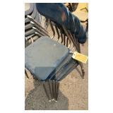 5 Dark Blue Chairs