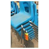 8 Blue Chairs