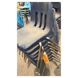 8 Dark Blue Chairs