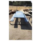 Blue  Metal Pic Nic Table