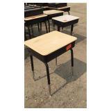 Kids School Desk Black W/ Brown Top