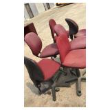 6 Red Misc Office Chairs