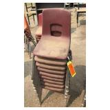 9 Red  Small  Kids Chairs
