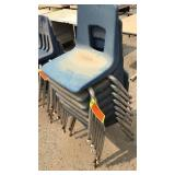 8 Blue Med. Kids Chairs