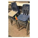 12 Blue Med. Kids Chairs