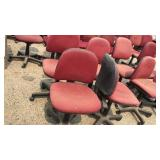 8 Red Office Chairs