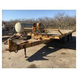 Miller tilt bed equipment trailer, tandem axle