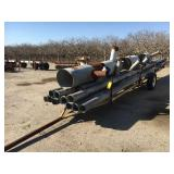 Two wheel pipe trailer with 6 inch aluminum pipe
