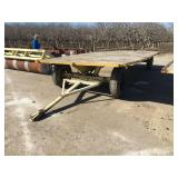 Four wheel flatbed trailer 8 foot wide by 20 foot