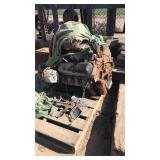 V8 Engine And Metal Box