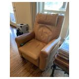 LEATHER POWERED RECLINER