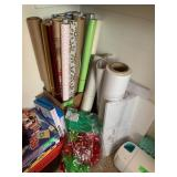 LOT OF WRAPPING PAPER CHRISTMAS AND MORE