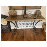 ACCENT TABLE / CREDENZA W BUILT IN WINE RACK