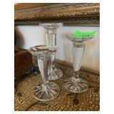 3PC CRYSTAL CANDLESTICKS