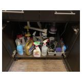 LARGE LOT OF UNDER THE SINK CHEMICALS MORE