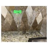 2PC WATERFORD CRYSTAL MILLENIUM CHAMPAGNE GLASSES