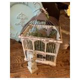 SHABBY CHIC BIRD CAGE AND DECOR