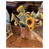 VAN GOGH SPECIAL VASE W FAUX SUNFLOWERS