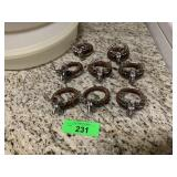 LOT OF FIGURAL STAG NAPKIN RINGS