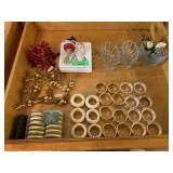 LARGE LOT OF NAPKIN RINGS AND MORE