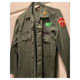 ARMY GREEN JACKET FATIGUES TOP