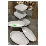 LARGE LOT OF WHITE DISHES / MORE